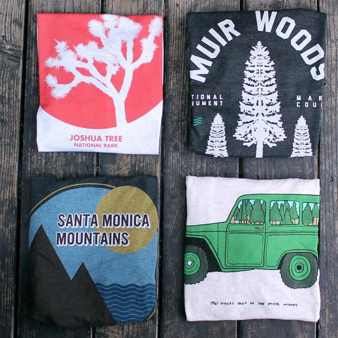 New #ParksProject tees now at @seedpeoplesmkt! Each tee is created with the purpose to help improve and conserve our parks. Which place is your favorite? #radparks