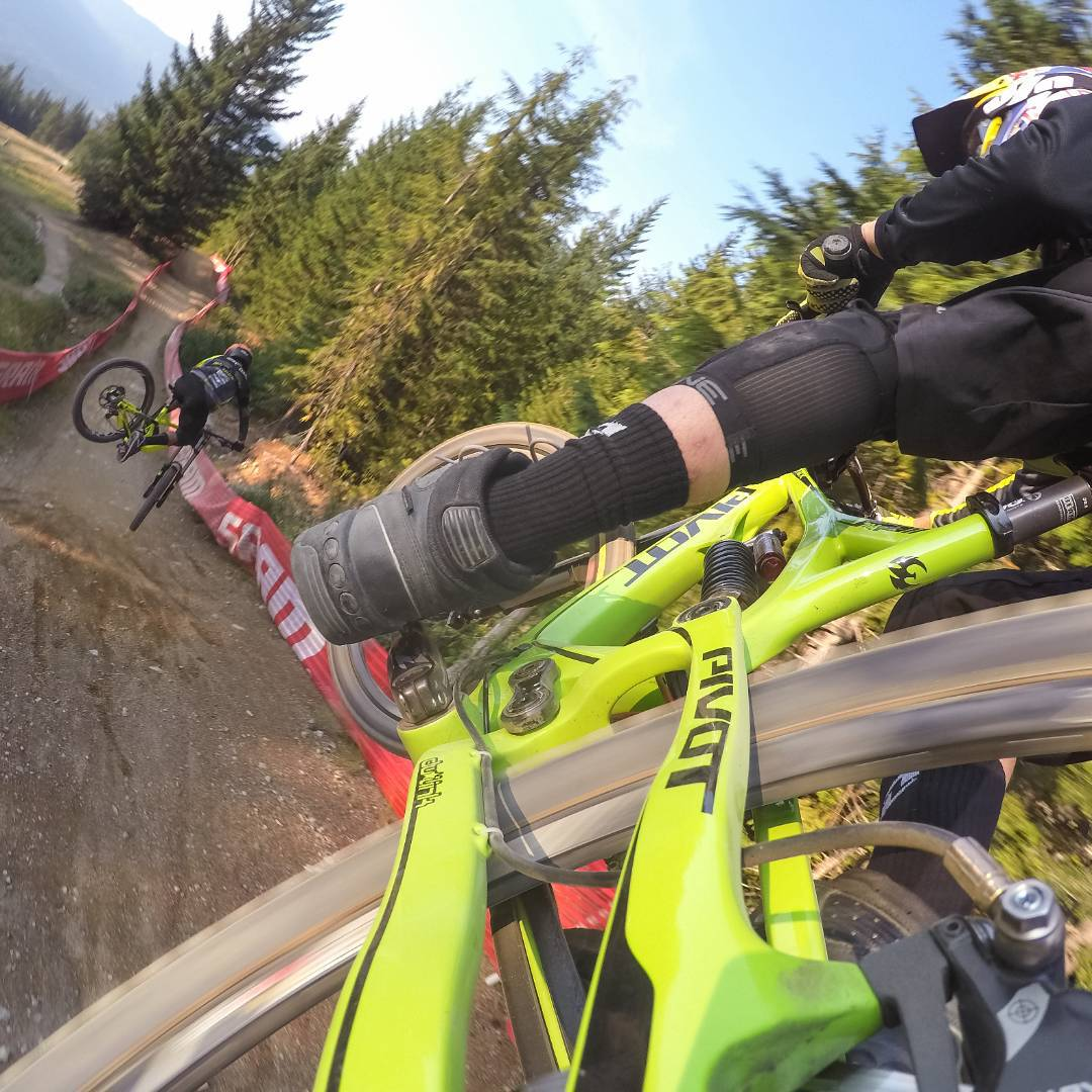 Find your morning flow with @aaronchase and @remymetailler in @whistlerblackcomb at #Crankworx! #GoPro #Whistler #Flow