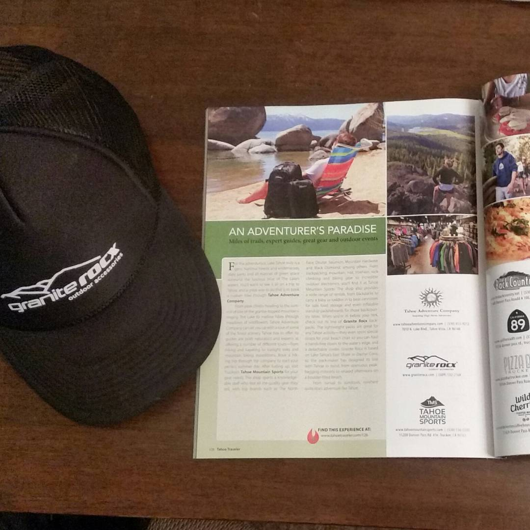 "Have you seen Granite Rocx in Tahoe Quarterly's Summer 2015 Issue?  We are included with two awesome companies, Tahoe Adventure Company and Tahoe Mountain Sports showing ""An Adventurer's Paradise"" in Lake Tahoe!  #adventureout #laketahoe #outdoors..."