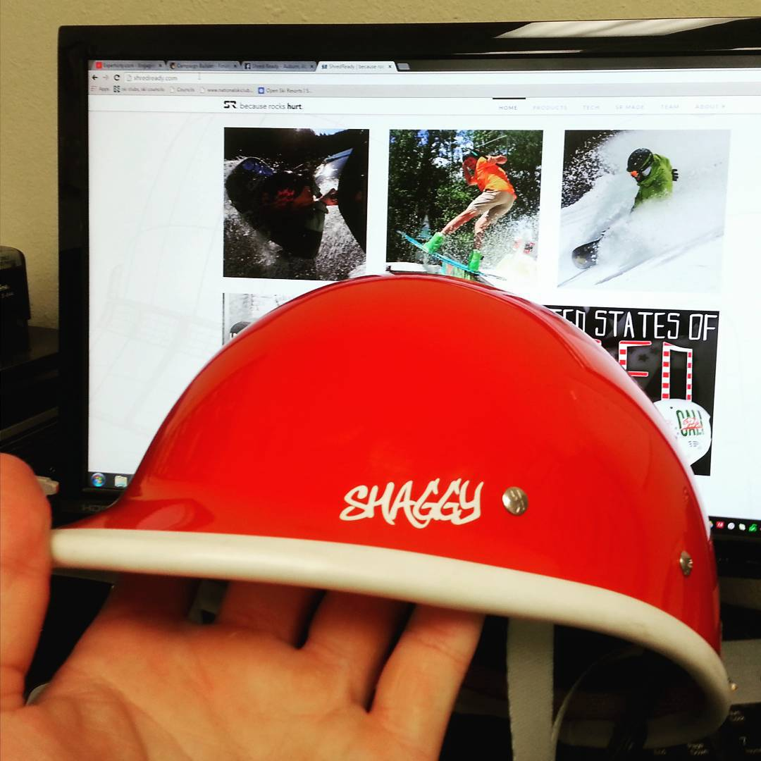 Opened up the Shred Ready vault for a #fbf helmet sale!  Looking for a #Shaggy helmet that is no longer produced?  Email customerservice@shredready.com to purchase the last ever Shaggy #fire for $149.99.