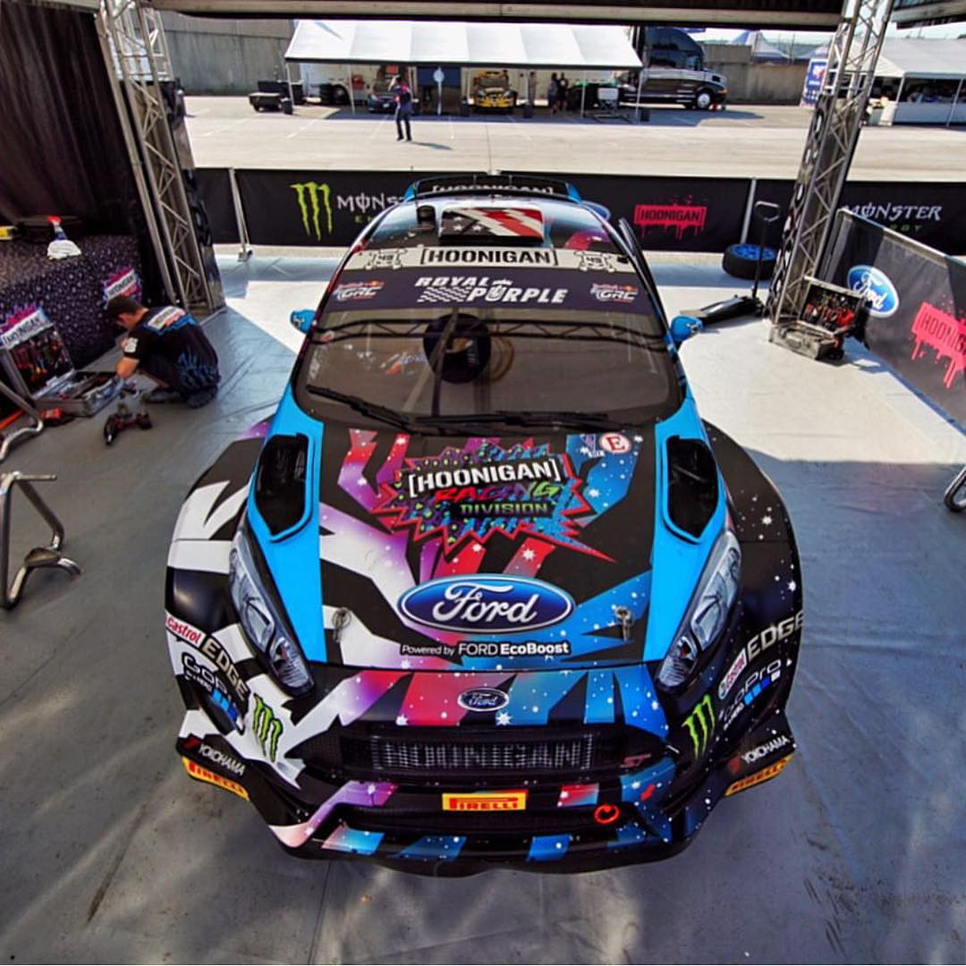 HHIC @kblock43 and @hooniganracing getting ready to party at #GlobalRallycross round 7 in Washington DC this weekend! #supporthooniganism