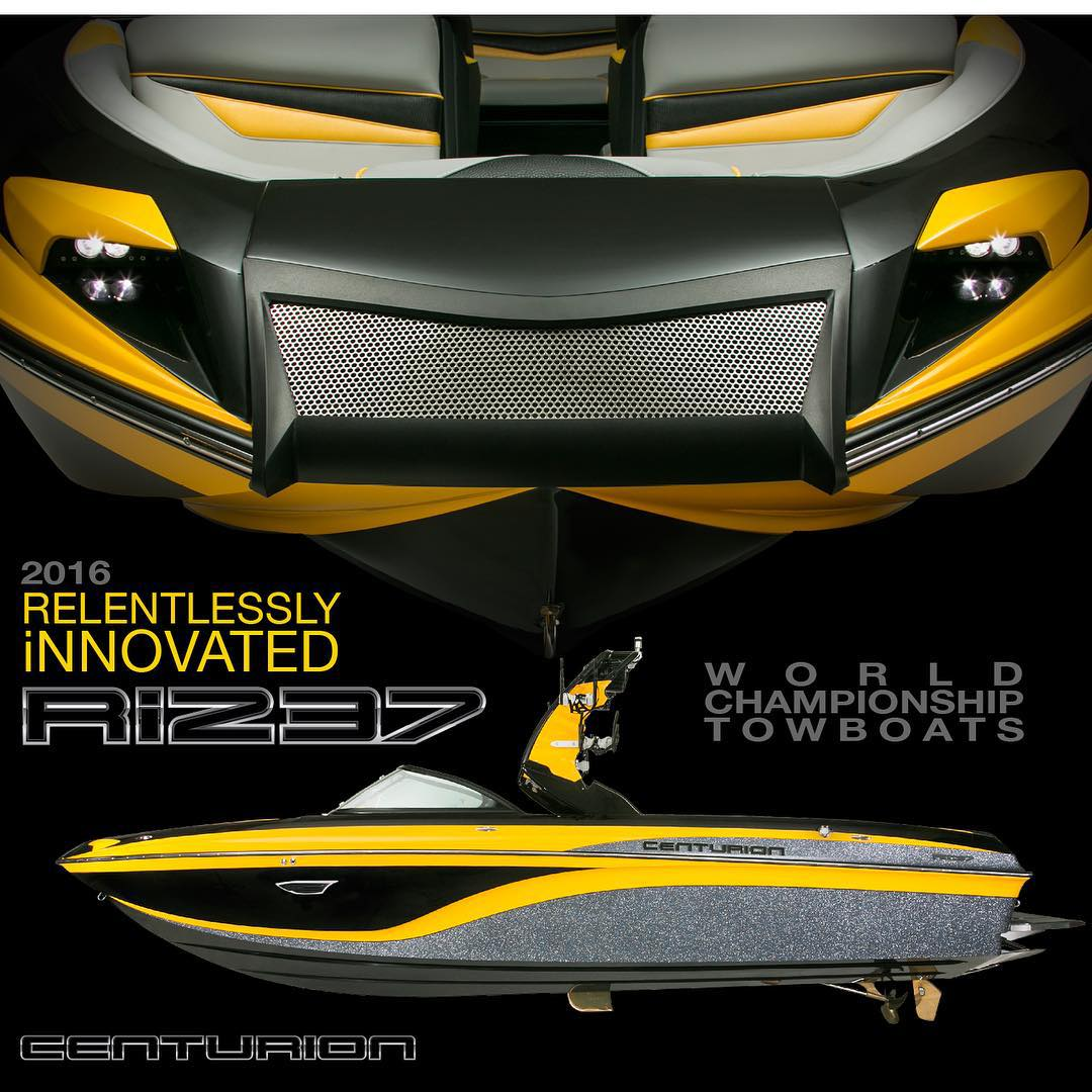 Congrats to the @centurionboats team for all the #RelentlessInnovation seen on the all new 2016 #Ri237!!! #RelentlesslyInnovated | #WorldChampionship | #Towboat | #CenturionRi237 | #DominantPerformance | #AmbitiousDesign | #InspiredCraftsmanship |...