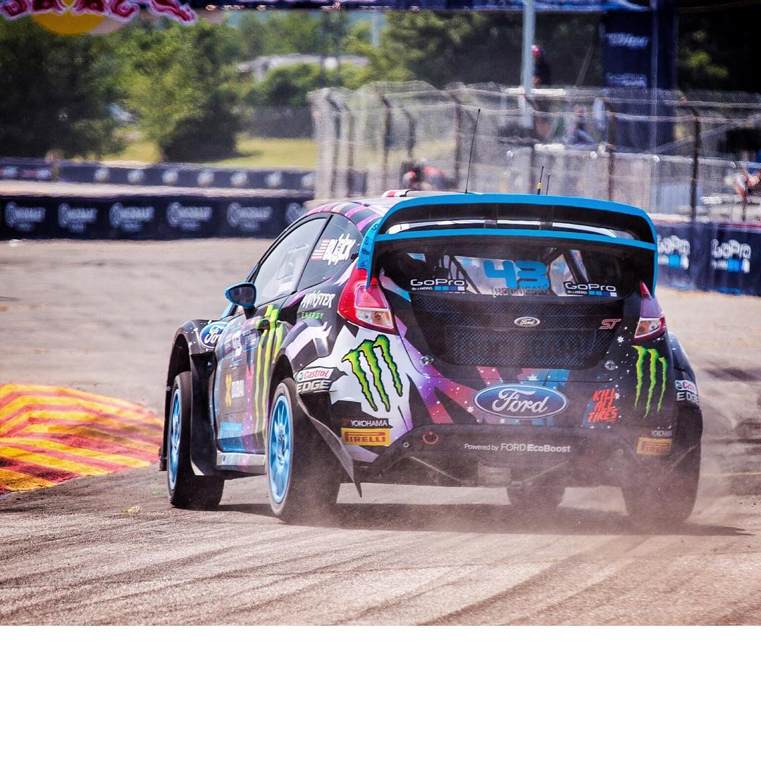 Practice and qualifying is tight here at #GlobalRallycross DC! Nearly all of the drivers have been within 1 second of each other. I'm struggling a bit with my setup out here, although we've improved our time a good bit from this morning. About to start...