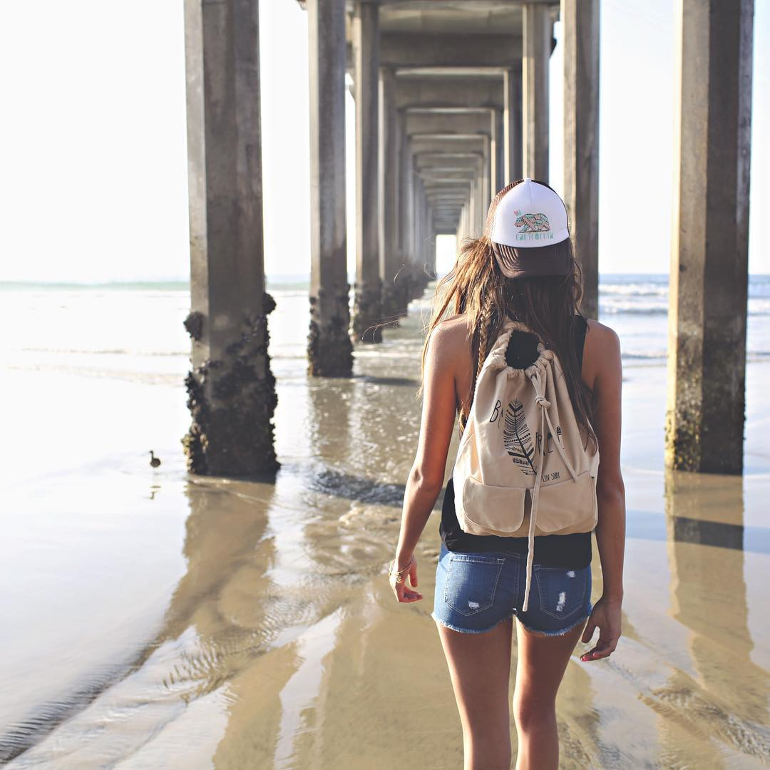 Weekends are meant for wandering // pack our be free backpack full of all the goodies you need on your next adventure. #luvsurf #befree #adventure #wander #freedom #beach #babe #wanderlust #weekend