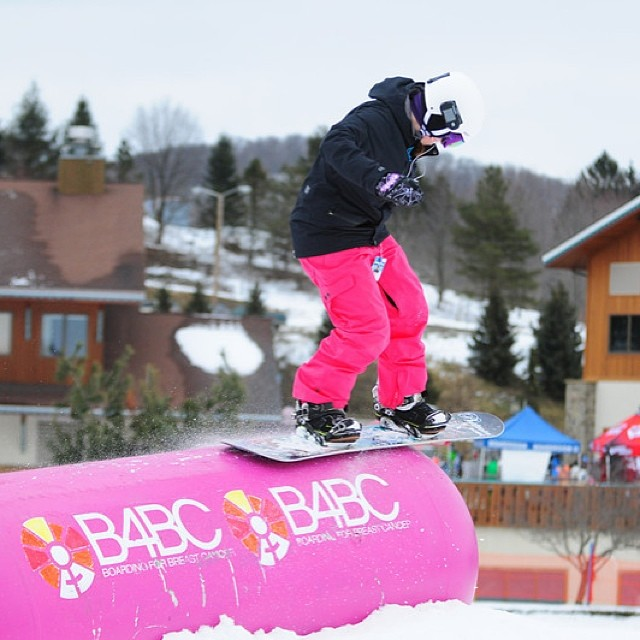 """SHRED THE LOVE // Holiday Valley Get ready this weekend for the 6th annual #ShredTheLove at @holidayvalley along with @boardroomeville! Come out for the """"Breast Trick"""" contest, Tribute Ride, women's clinics, silent auction and more, benefiting B4BC!!..."""