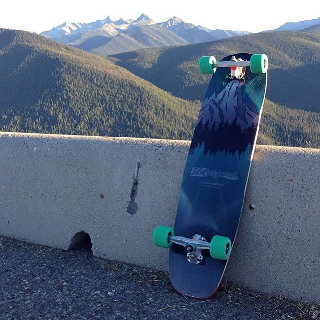 "A beautiful view of @jonnyyardwaste's Keystone 37"" in British Columbia. #dbkeystone #longboard #longboarding #longboarder #dblongboards #goskate #skateboard #skateeveryday"