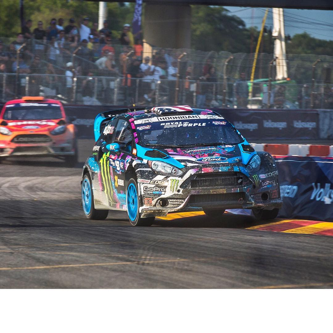 Had a tough first day here at #GlobalRallycross DC. Struggled a bit to dial in the perfect setup for this track, and ended up fourth in my first heat. Tomorrow is a new day though - my team and I will keep pressing on to find more speed. #curbslap...