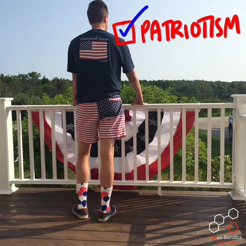 Ya smell that #Patriotism and #grabapair this #weekend. #talkaboutabro #brolife #america #flyaflag #wearebright #redwhiteandblue