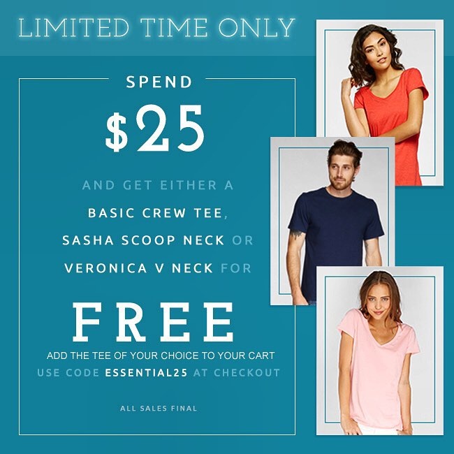 Weekend #surprise — Spend $25 and get a #FREE tee! Don't wait, shop now!