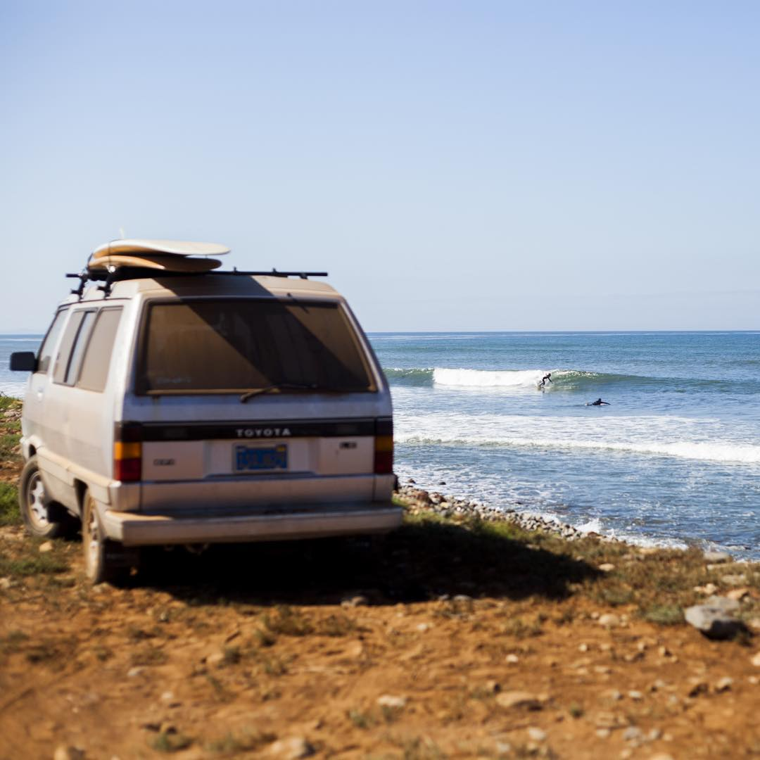 ~ Nomadic Baja ~  We awoke in the morning to clean air and dirt trails. Tipped off about the parking for one of the breaks, we took the advice and scored front row at a spot we scoped the day before. Although the surf was small, we made the best of it....