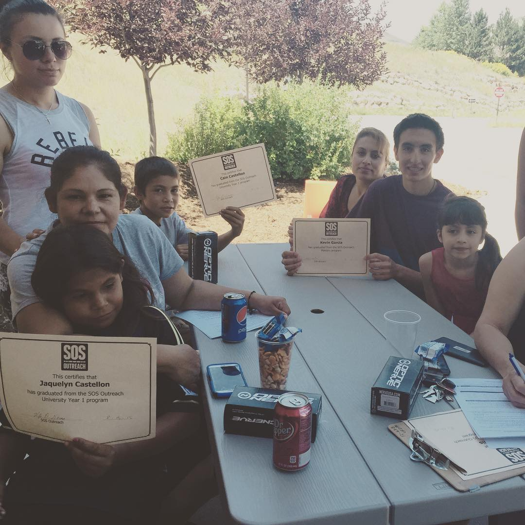 Congrats to the #eaglecounty SOSers!  We are having a blast celebrating summer today at our graduation bbq! #inspireyouth #youth #getkidsoutside @vailmtn @beavercreek @supcolo