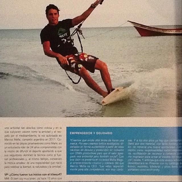@mafiabags en una nota a pleno kite. #soul #kitesurf #waves #reefargentinaa