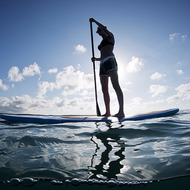 Hope everyone is having a great weekend! #balance #training #paddleboard #yoga #fitness #train #weekend #paddleboard #sesh #workhard #trainhard #paddleboarding #progress #namaste #water #dog #boardsports #paddleboardyoga #progressionnotperfection...