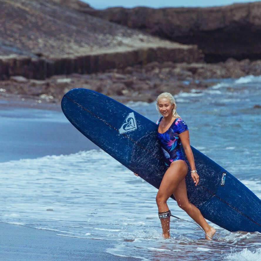 Cruising into the weekend in style with @keliamoniz #ROXYsurf  roxy.com/surf