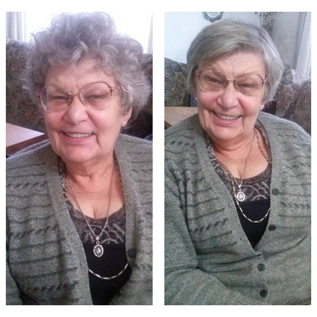 Jugando con la nonna! #beforeandafter #nonna #look #makeover #diadelniño #loveher #sundayfunday