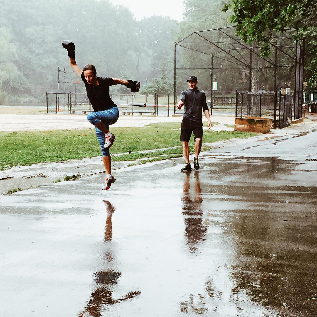 Rain's no excuse for our ambassadors @ross_anti and @dylanbrown_nyc. #HICKIESfit #aLifeWithoutLaces