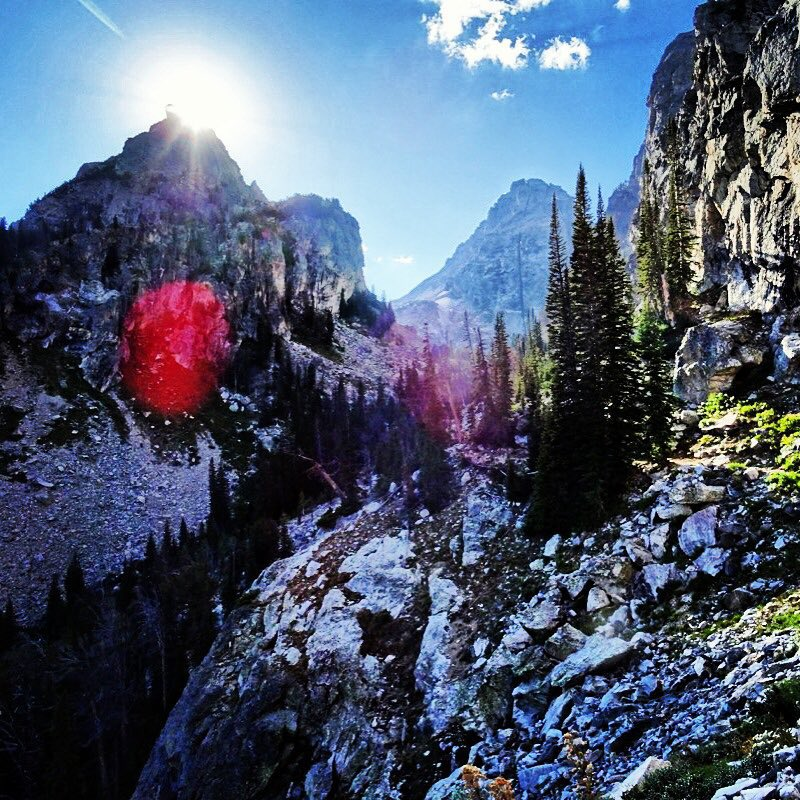 #NextLevelVibes in Garnet Canyon. #jacksonHole #avalon7 #adventuremore  www.avalon7.co