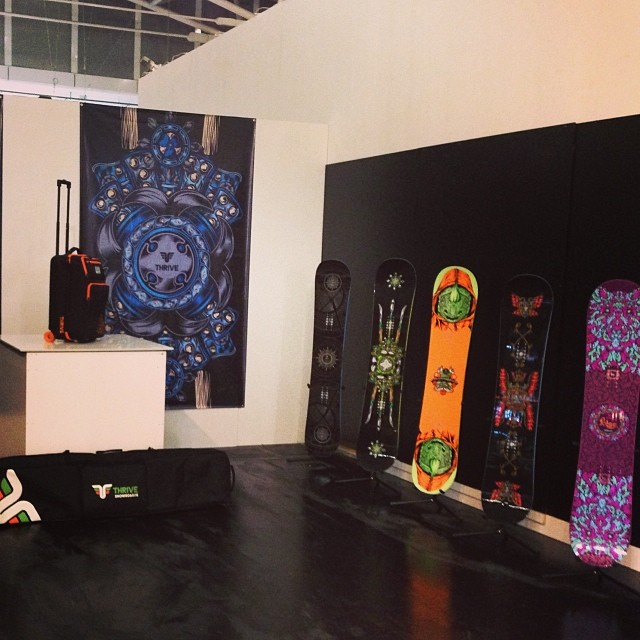 2015 Thrive Lineup at ISPO Munich! Hall: A1 Booth: 221 #snowboard #2015products #tradeshow #ispo