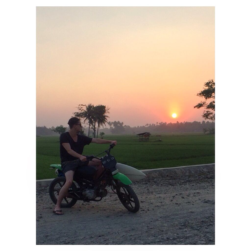 Land of sunsets, misty rice fields, bikes, surf, magic, good times, good vibes...