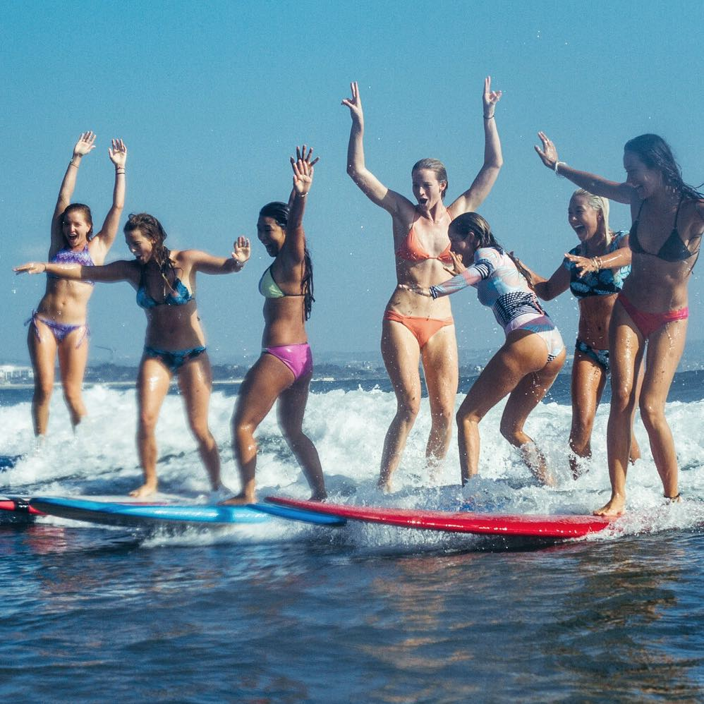 Everyday is a party wave kinda day when these girls get together #ROXYsurf  roxy.com/surf