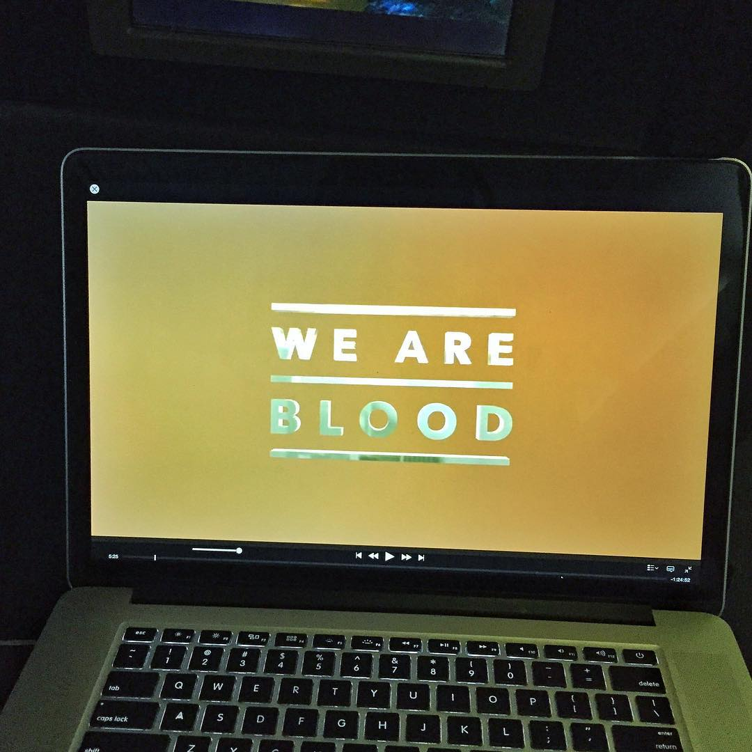 This evening's entertainment on my flight from Washington DC to LAX: @Brainfarm's new skateboard movie, WE ARE BLOOD. Amazing skating and video production, and some great storytelling too. Congrats @TyEvans, @CurtisMorgan, and all the skateboarders...