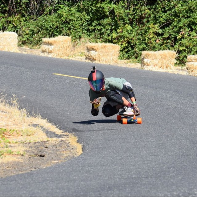 @gabrehsaur throwing the #shocka while railing threw #cowzers at the #Maryhill #sheride turned #freeride this past weekend. Honestly one of the best freerides we've been to! #predatorhelmets #originalpredatordesign #DH6 #regram