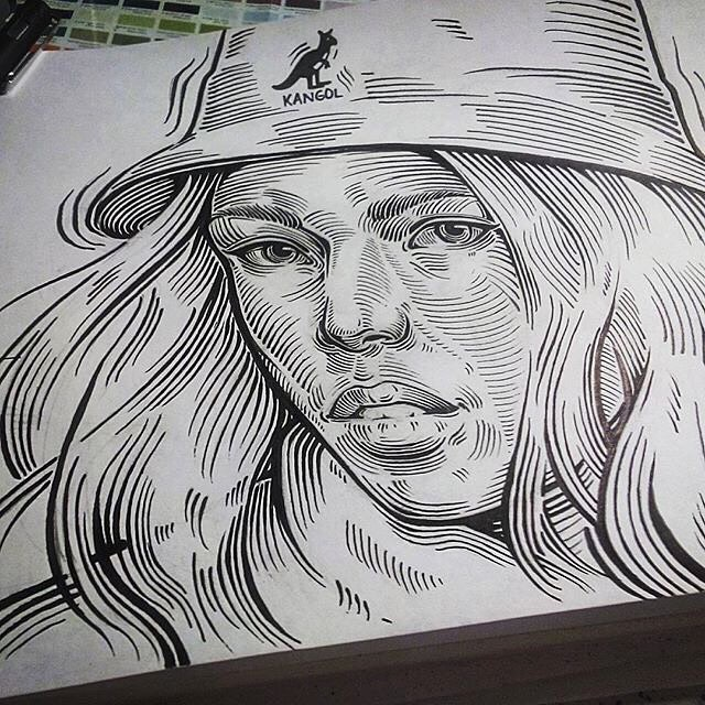 Amazing Line Work #kangol via @ar2r_ndtch