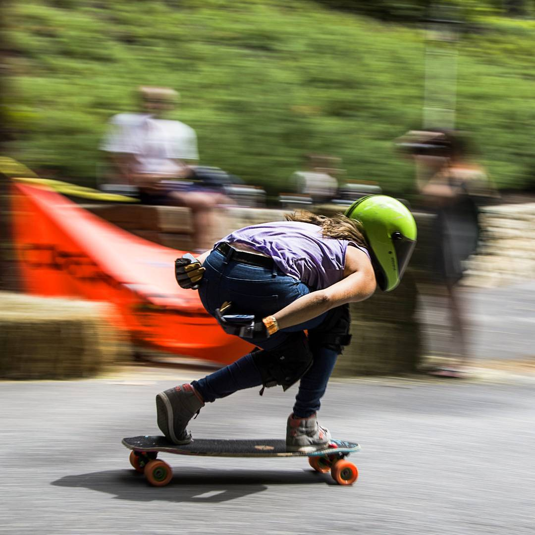 Happy Monday Y'all!  Behold #LoadedAmbassador @mckaywilsonskate as she gradually enters warp speed down the race course at #CentralMass6  This shot was taken mid phase shift as her helmet changes color. This change in color comes from the shortening of...