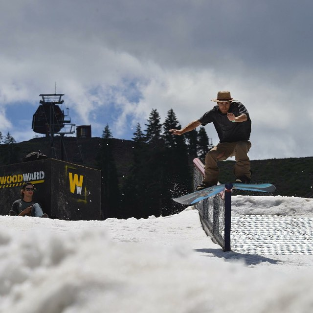 @billy_garcia_ has been busy this summer.  Gap to lipslide with @jake_tahoe behind the lens! @borealmtn @woodwardtahoe