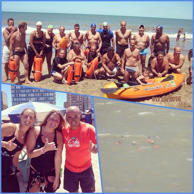 Grupo de natación!! Mar adentro. #NadandoLibreMiramar #Miramar