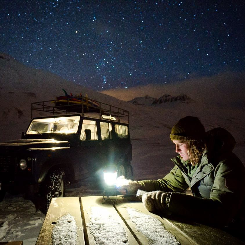 Late nights with the Lighthouse 250 in the arctic after long days of searching for surf. #GetOutStayOut  Photo: @chrisburkard