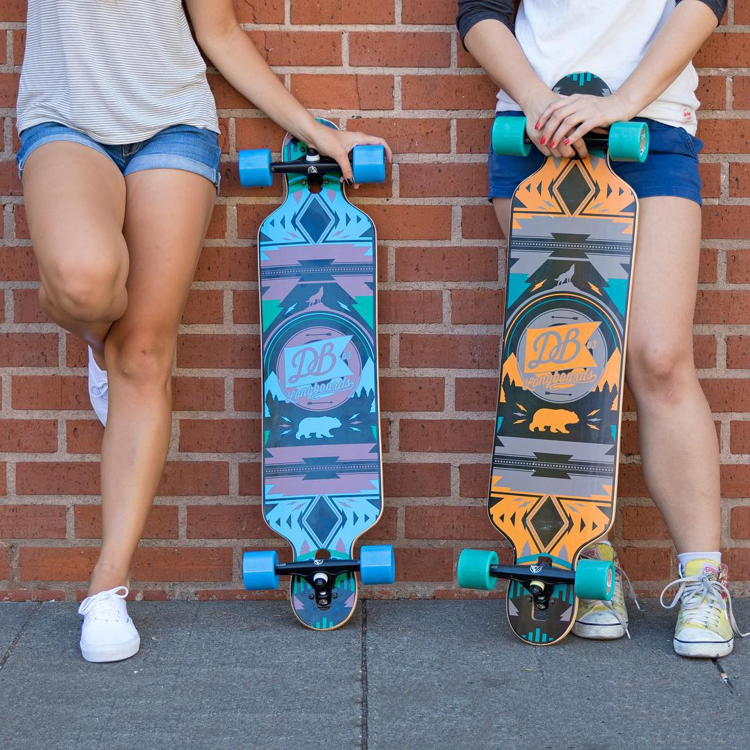 "The Urban Native 38"" and 40"" two of our popular drop-through cruiser boards. Snag one! #longboard #longboarding #longboarder #dblongboards #goskate #skateboard #skateeveryday"