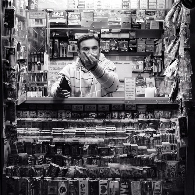 Feelin like this guy today. Gotta love NYC newsstands. Shot by @m1lkbaby featured in #issue35 #steezmagazine #nyc #newsstand #streetvendor #flipoff #thebird