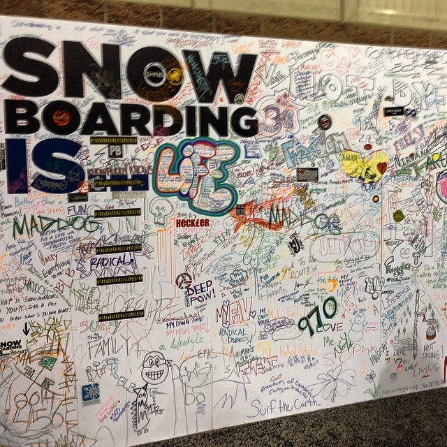 We want to know what #Snowboarding means to you! Let us know in the comments below. To us snowboarding = #freedom, #love, #exhilaration, #happiness, #friendship - this sounding board was up @siasnowsports and we think it's a great way to bring the...
