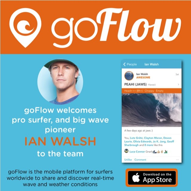 Excited to have Ian Walsh joining the team!!! #goflow #surf @ianwalsh4