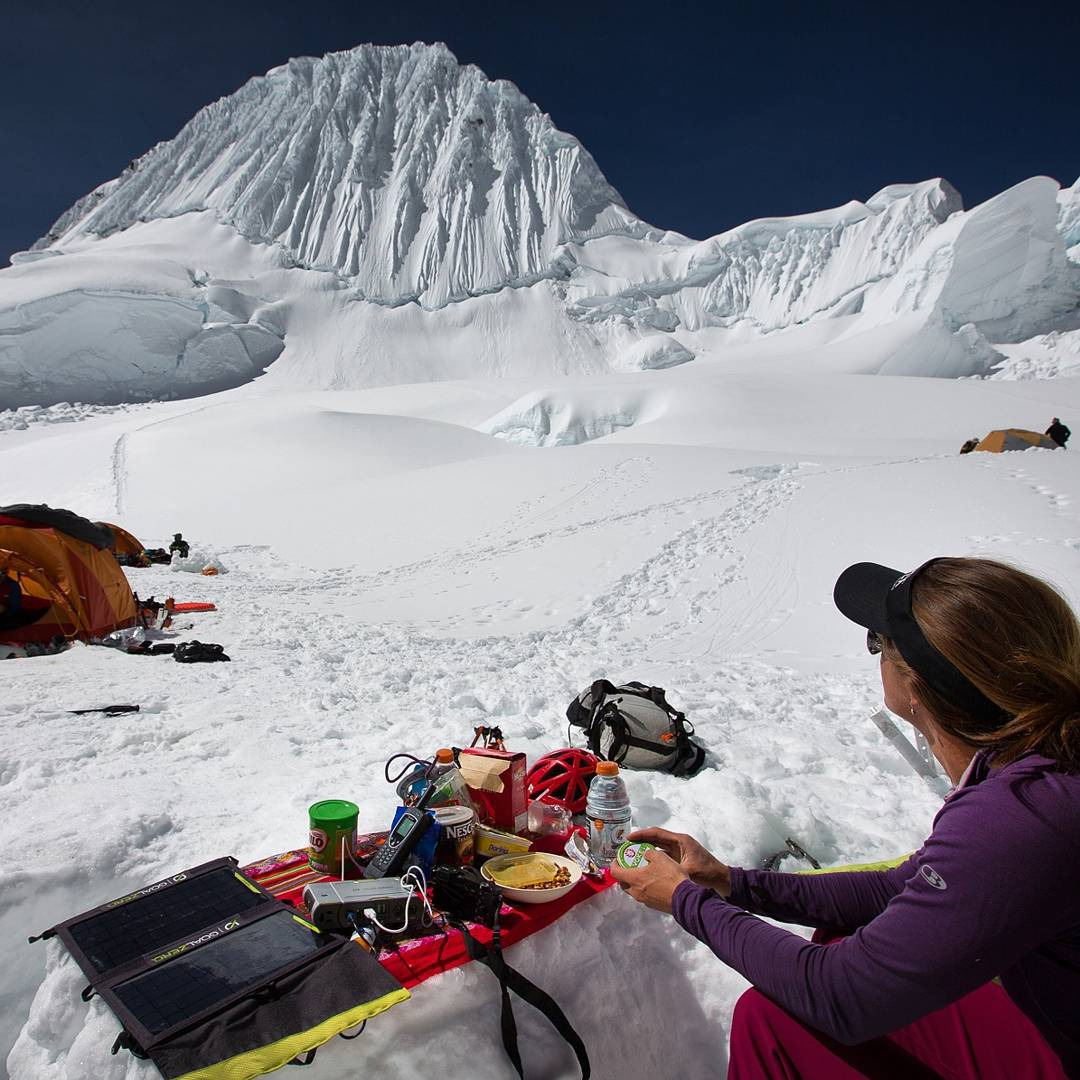 Camp life on Alpamayo with @smileysproject. #GetOutStayOut