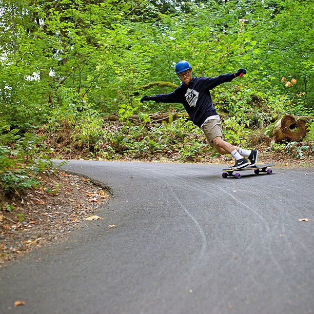 "Bill Kim (@nwnatives) with the steez in one of our hoodies on the Keystone 39"". Dont forget we have a special sale featuring 20% off all of our apparel at DBlongboards.com!"