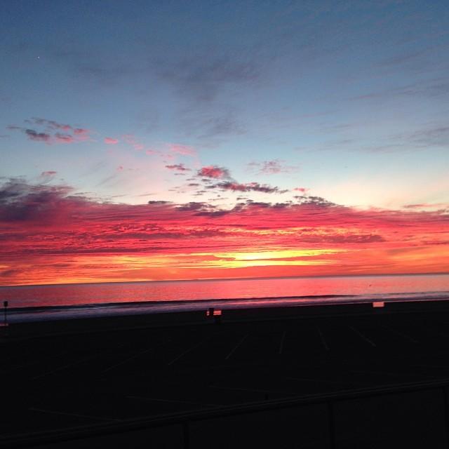 Sunset surf sesh. #Malibu #Surf #goflowsurf