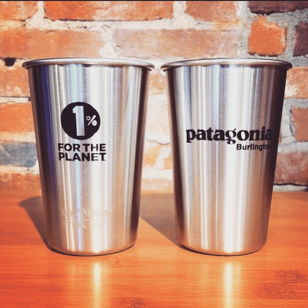 We are gearing up for the #YourDenimOurWater event with @patagoniabtv. Thanks to 1%ftP member @kleankanteen for our awesome pints. Join us on August 27th to get yours as a gift with your donation, filled with local @zerogravitybeer or @andegavia wine!...