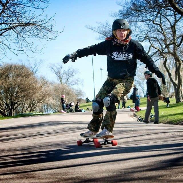For life.  Longboard Girls Crew Finland rider Lena Salmi is rad.  #longboardgirlscrew #womensupportingwomen #girlswhoshred #skatelikeagirl #lenasalmi #finland #lgcfinland #forlife