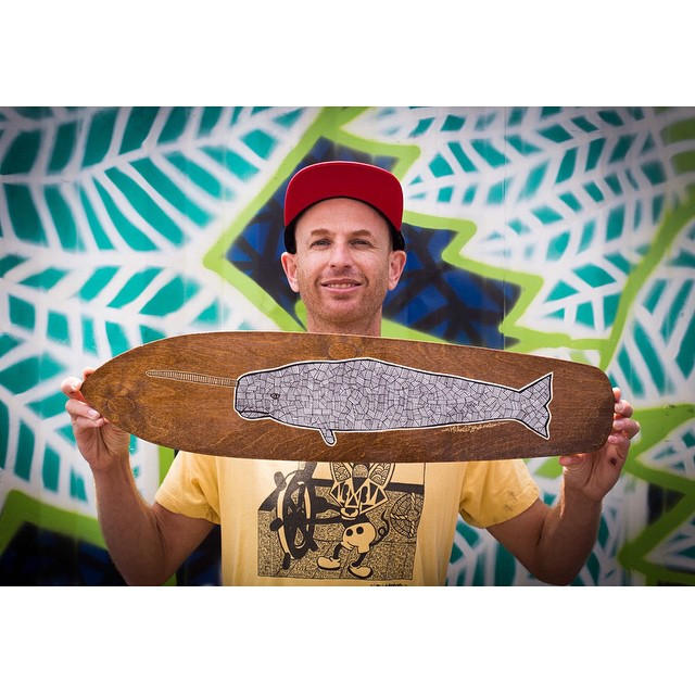 #ElementAdvocate Mike Kershnar hand cut, stained, silkscreened, and signed 25 of these custom narwhal boards >>> Give him a follow (@huskyroundup) to see how you can get your hands on one! #mikekershnar