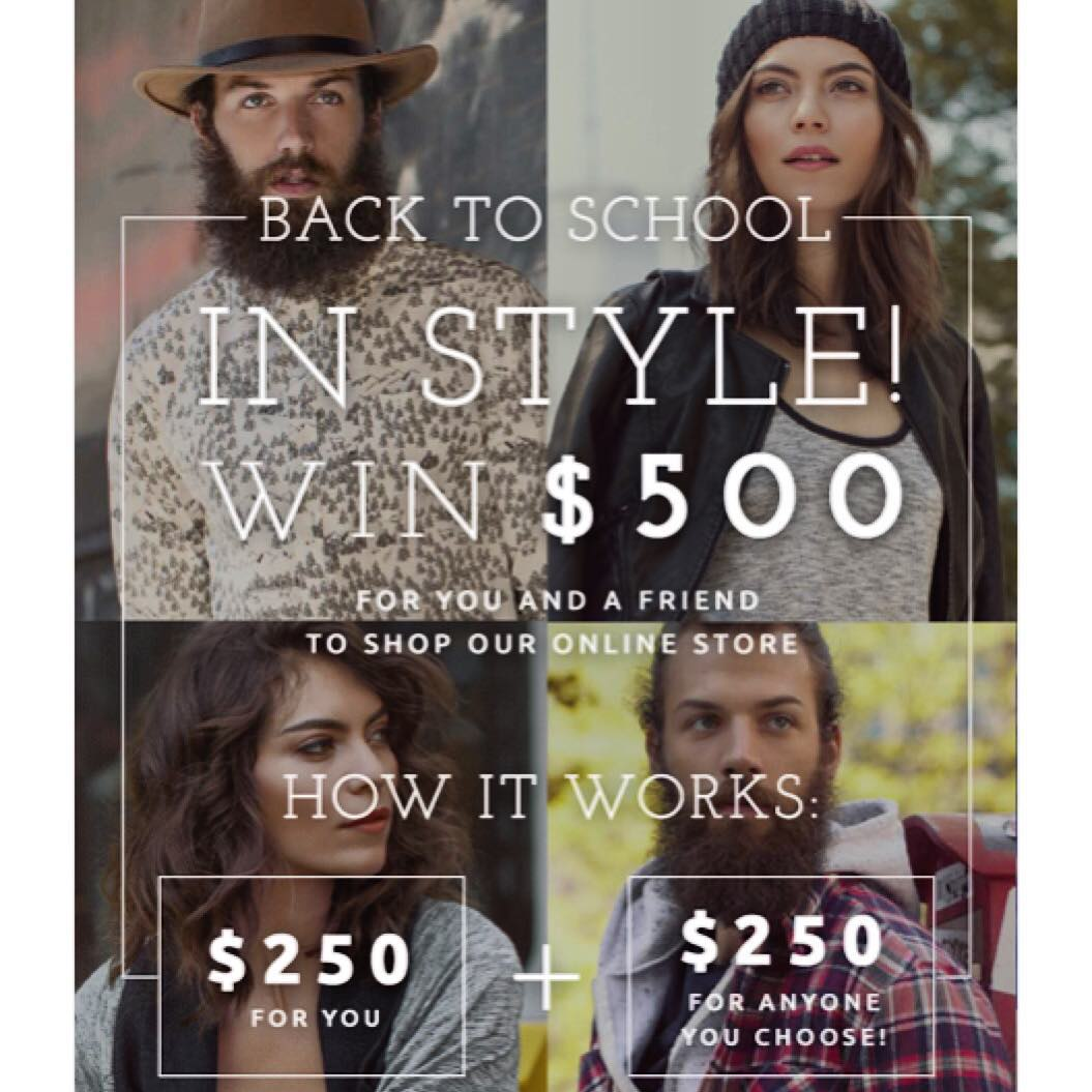 #contest time! One winner & a friend of their choosing will receive a $250 #shopping spree to our online store– just in time for back to school! Click the link in profile, fill out the entry form, & share your contest entry via your social media...