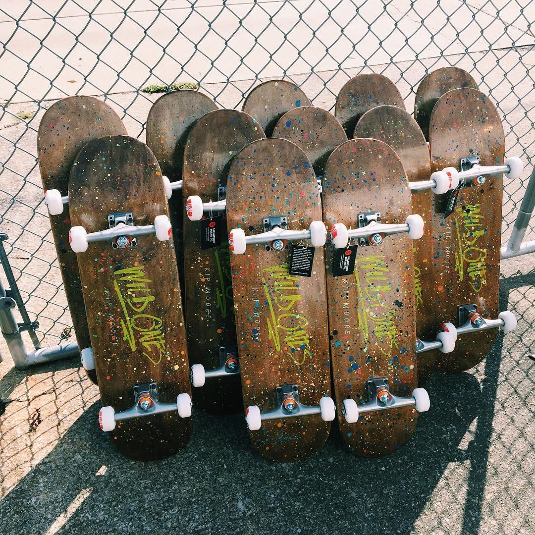 A bunch of boards going out this morning for @kipmooremusic #handmade #MadeInAmerica #nashville #skateboards