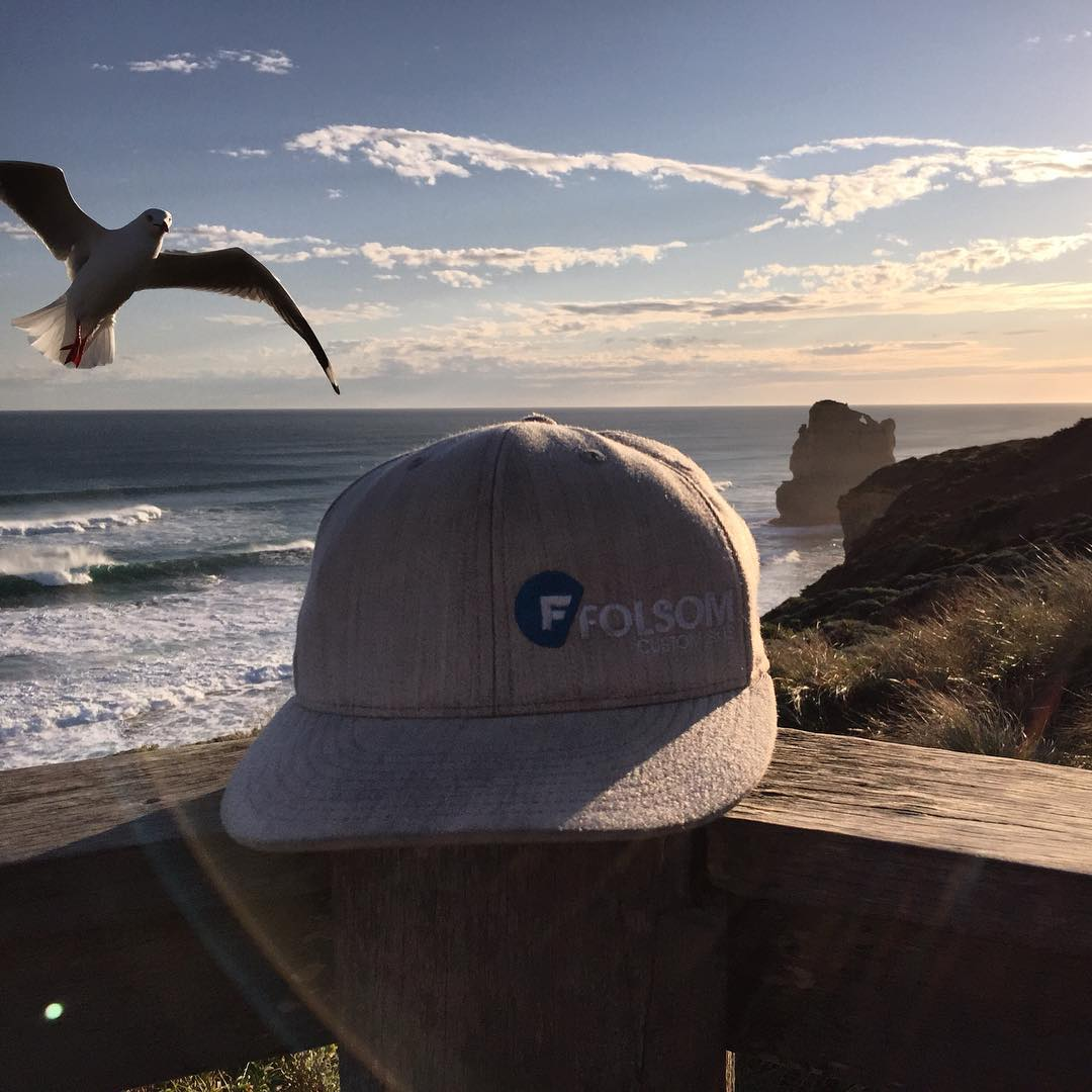 #folsomskis is everywhere these days! Watch out I think that #seagull is gonna steal your hat! #12apostles beach #Australia