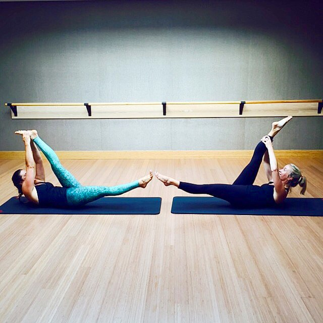 """The coolest things in life are things that you have not done before. That's the key to life: new things always.""-Afrojack  #yogini at #pilates with @l2method @equniox #trysomethingnew #gobeyond #discover #splits #equinox #fitness #leggings #sea..."