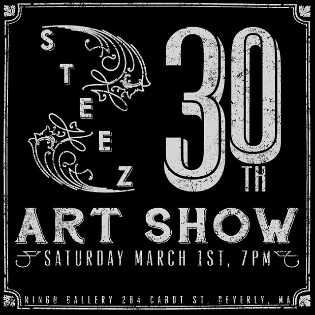 Heads up! We're hosting a 30th issue art show at @mingogallery in Beverly, ma on March 1st with music, art, drinks, and exclusive collabs etc. don't miss it. @gansettbeer @bernunlimited