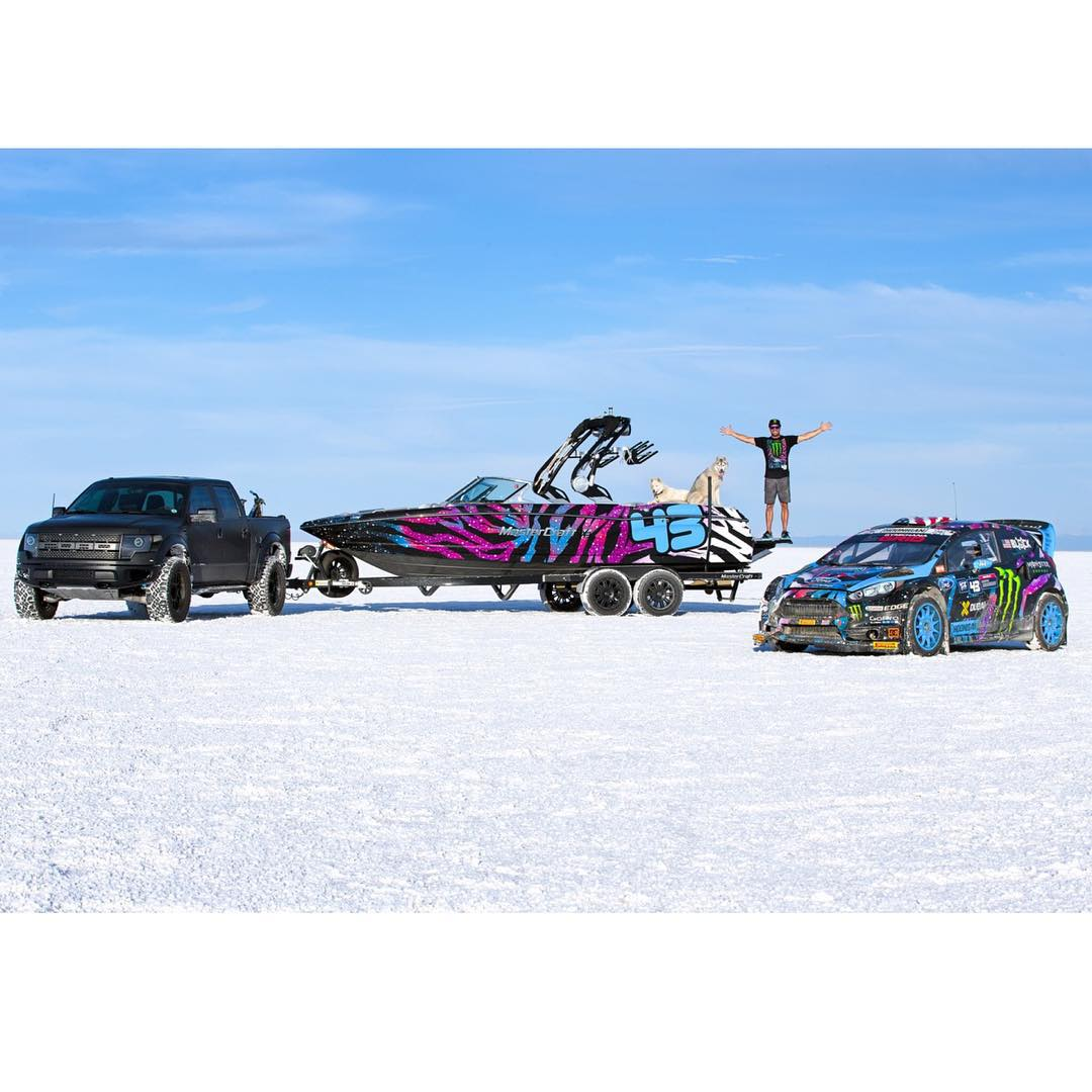 I've partnered with MasterCraft this year to create this: a one-off version of their X30 wake boarding boat, wrapped up in my 2015 intergalactic race livery! So. Awesome. It's wild to see a boat that matches my racecars. And, it looks especially good...