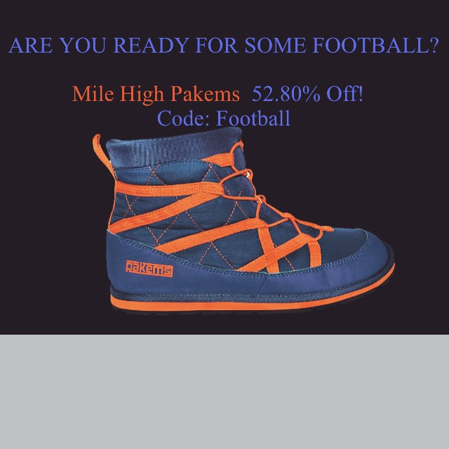 Are you ready for football season?  Pakems is!!! Mile High Pakems are 52.80% off. They are perfect for gameday!! Warm, comfy and blue and orange!! #5280 #superbowl #denverbroncos #blueorange #warm #sale #comfortable #gameday #denver