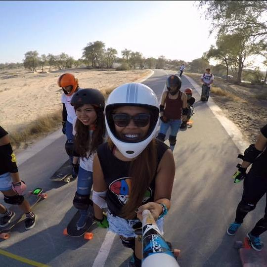 @longboardgirlscrewphilippines ​  shredding! Check out Shan, Valerei, Daniellyn, Kara & Kherien progressing on their freeriding skills and taking pack-run in dreamy roads  #longboardgirlscrew #womensupportingwomen #girlswhoshred #skatelikeagirl...