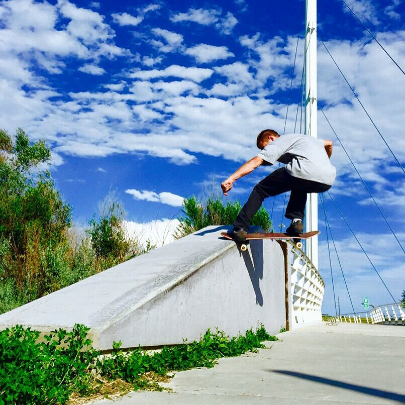 @hashtagkyleolsen with a picture perfect FS noseslide #coloradoskateboards #skatecolorado